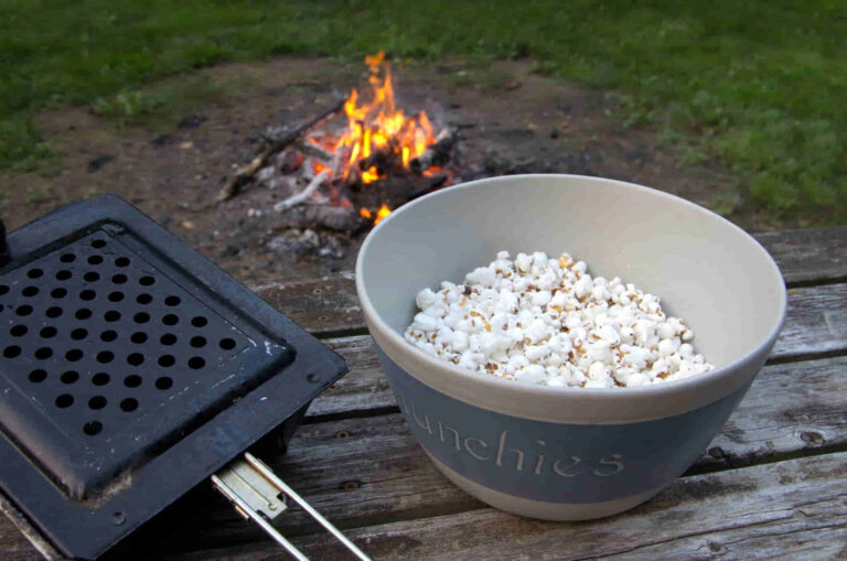 How To Make Easy Popcorn While Camping Outdoors